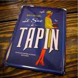 """Plaque Métal """"Le Sac à Tapin"""" - 14 x 20 cm"""