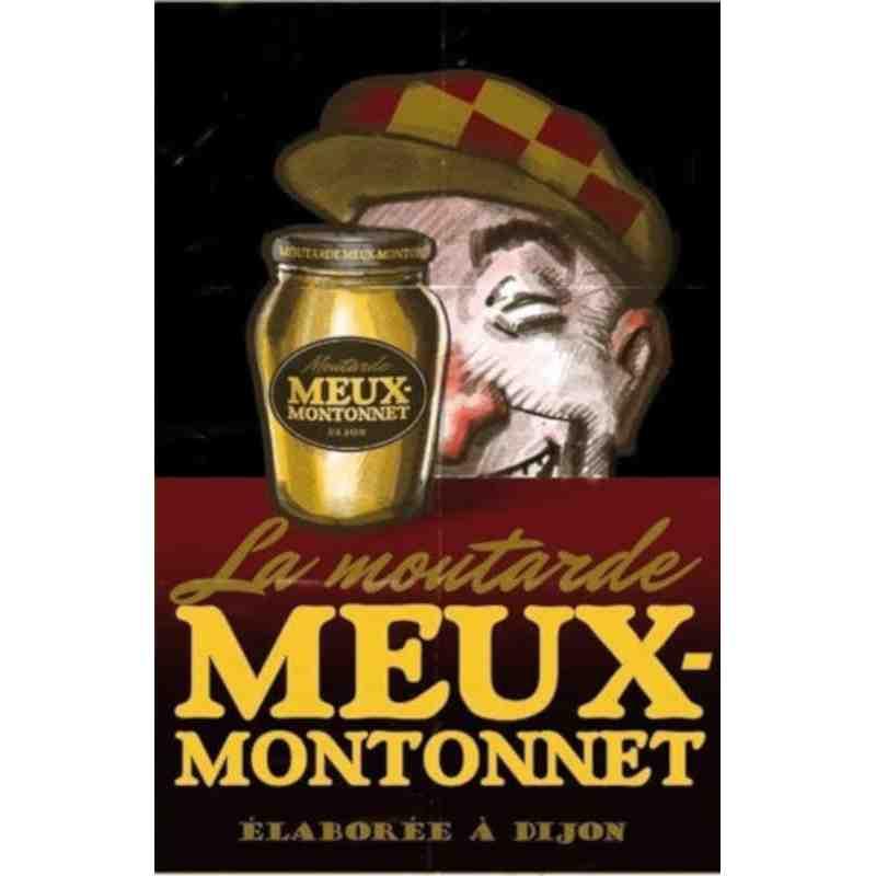 """Plaque Métal """"Moutarde Meux-Montonnet"""" - 14 x 20 cm."""