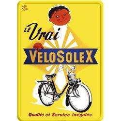 Plaque métal VeloSolex - Cyclomoteur ancien - 15 x 21