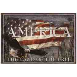 "Plaque Métal ""America - The Land Of..."