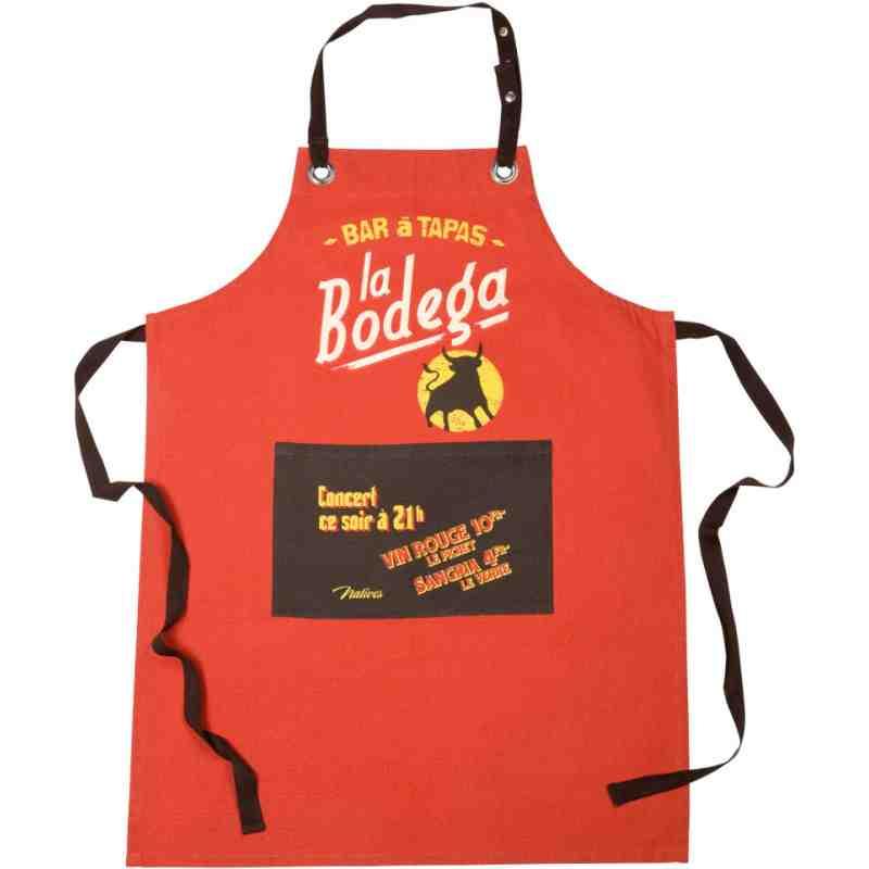 "Tablier de cuisine ""La Bodega"" Natives Deco"