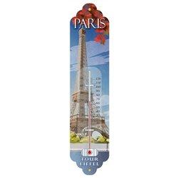 """Thermomètre métal """"Paris Tour Eiffel"""" vintage rétro"""