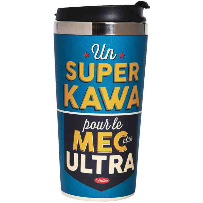"Mug Thermos ""Super KAWA"" - Natives Déco."