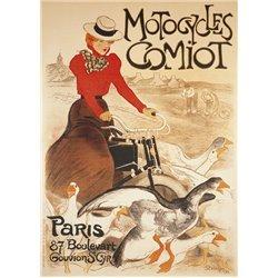 """Plaque métal pub ancienne """"Motocycles Comiot"""" 15 x 21"""