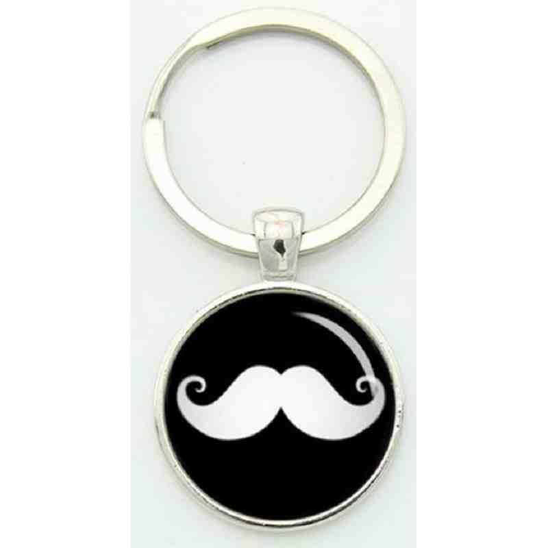 """Porte-clé vintage """"Moustache""""."""