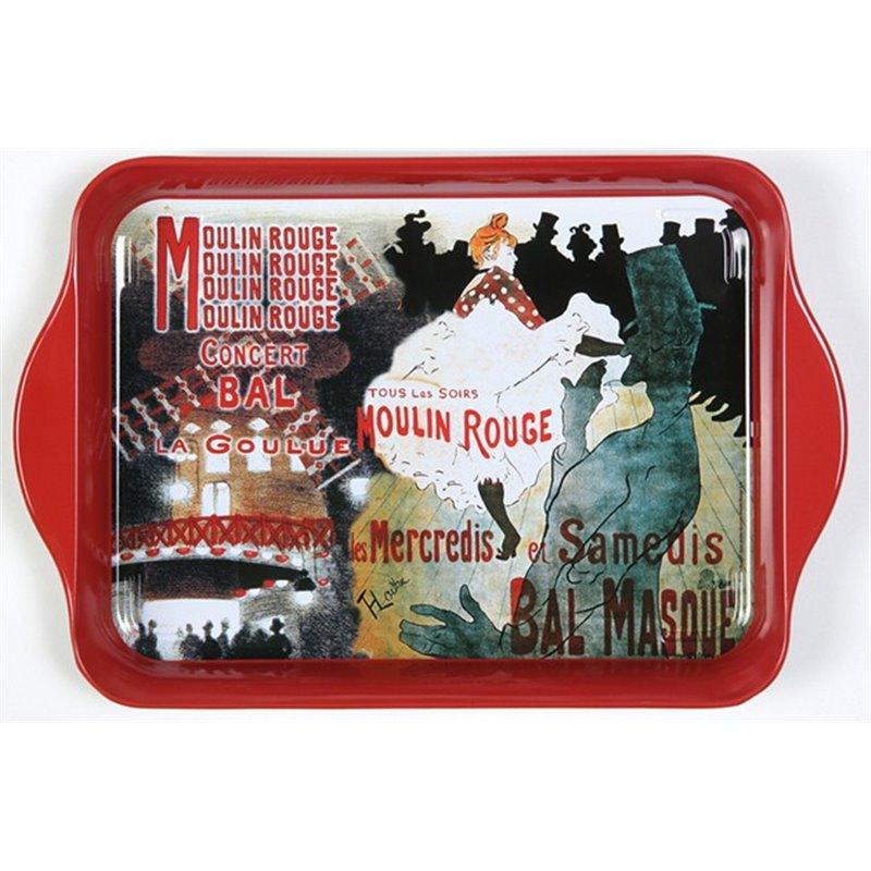 """Plateau mélamine """"Moulin Rouge"""" - style rétro - 33 x 20 cm"""
