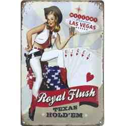 """Plaque Métal US """"Las Vegas"""" - 20 x 30 cm."""