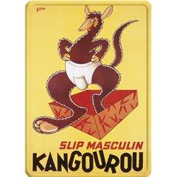 """Plaque métal pub ancienne """"Slip Kangourou"""" - 15 x 21"""