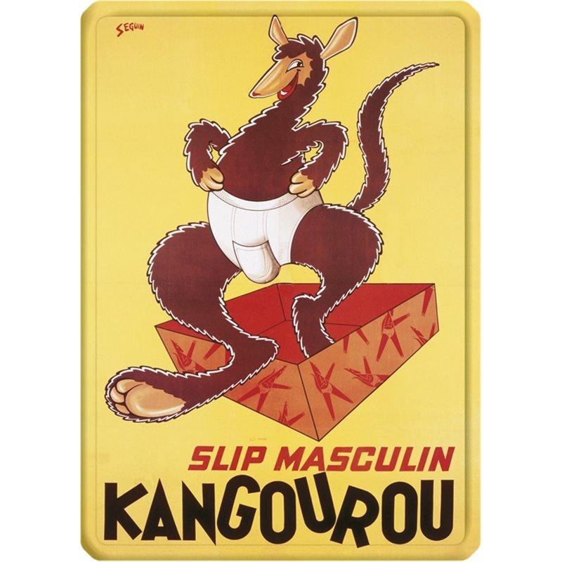 plaque m tal pub ancienne slip kangourou 15 x 21. Black Bedroom Furniture Sets. Home Design Ideas
