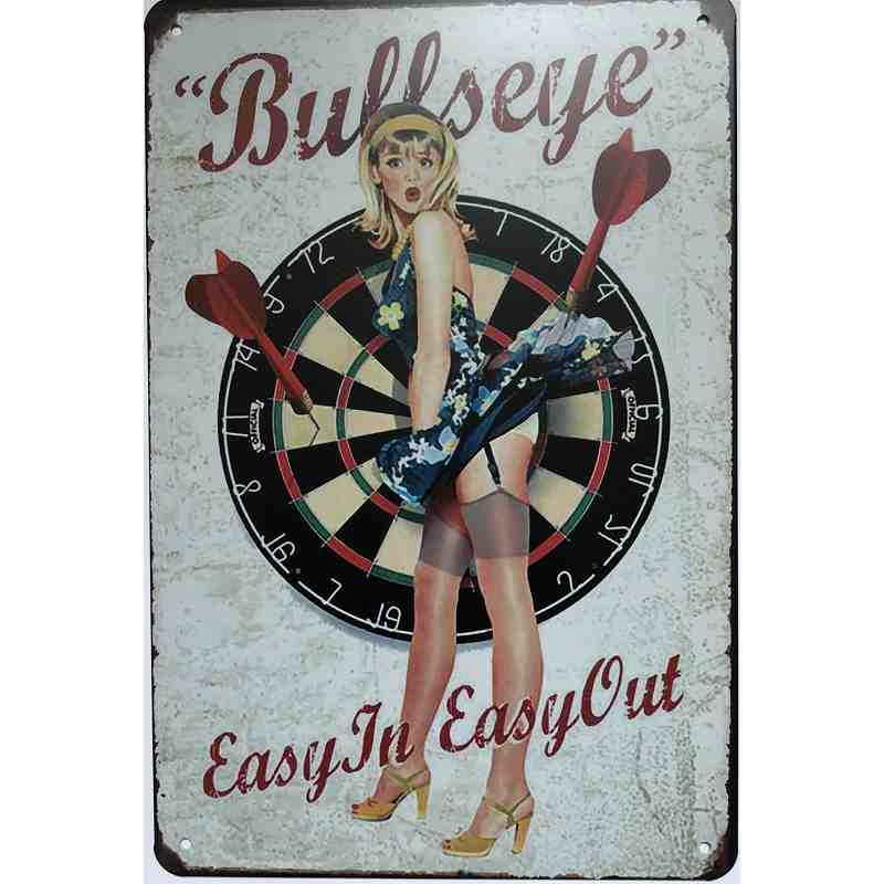 "Plaque Métal US ""Bullseye"" - 20 x 30 cm."