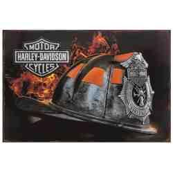 "Plaque Métal US ""Harley Davidson"" - 20 x 30"