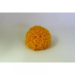 Bougie Forme Fleur - Cire Colorée - Bouton...
