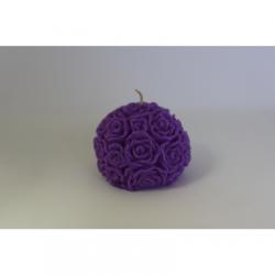 Bougie Forme Fleur - Cire Colorée - Lilas