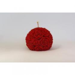 Bougie Forme Fleur - Cire Colorée - Rouge