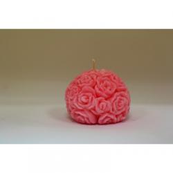 Bougie Forme Fleur - Cire Colorée - Rose