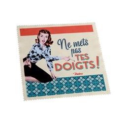 """Chiffonnette """"Ne mets pas tes doigts"""" - vintage humour 50's"""