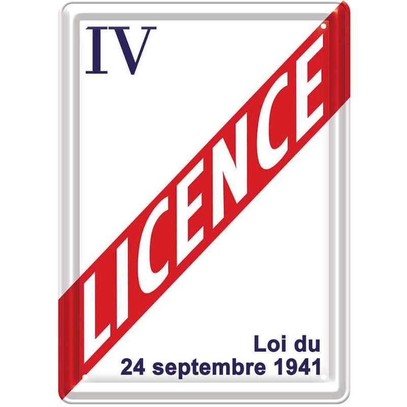 Plaque Métal Licence IV