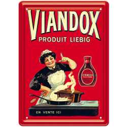 "Plaque métal vintage ""Viandox"""