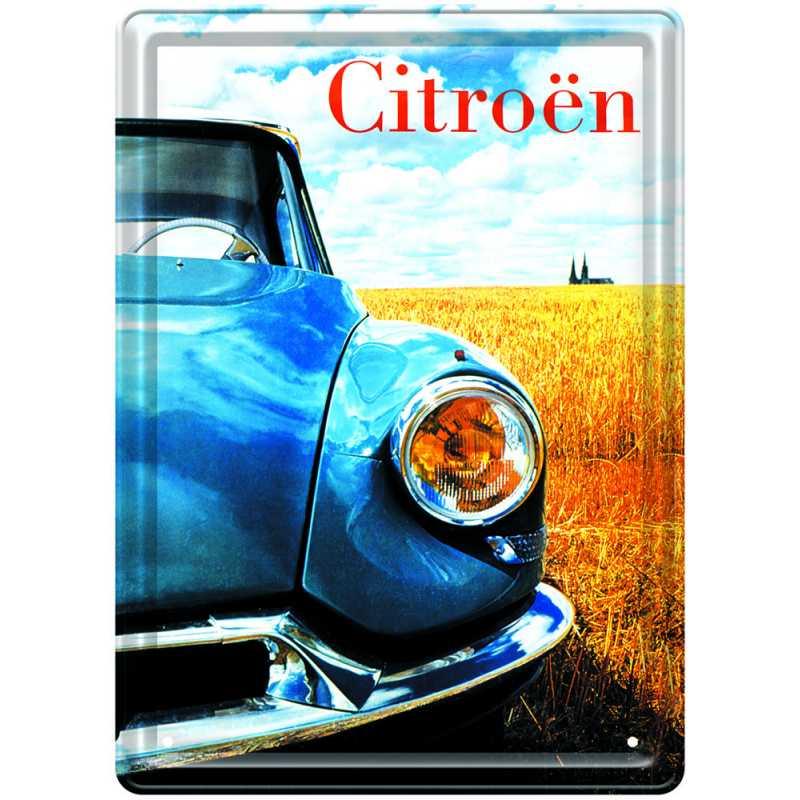 """Plaque métal """"Citroën DS Chartres""""."""
