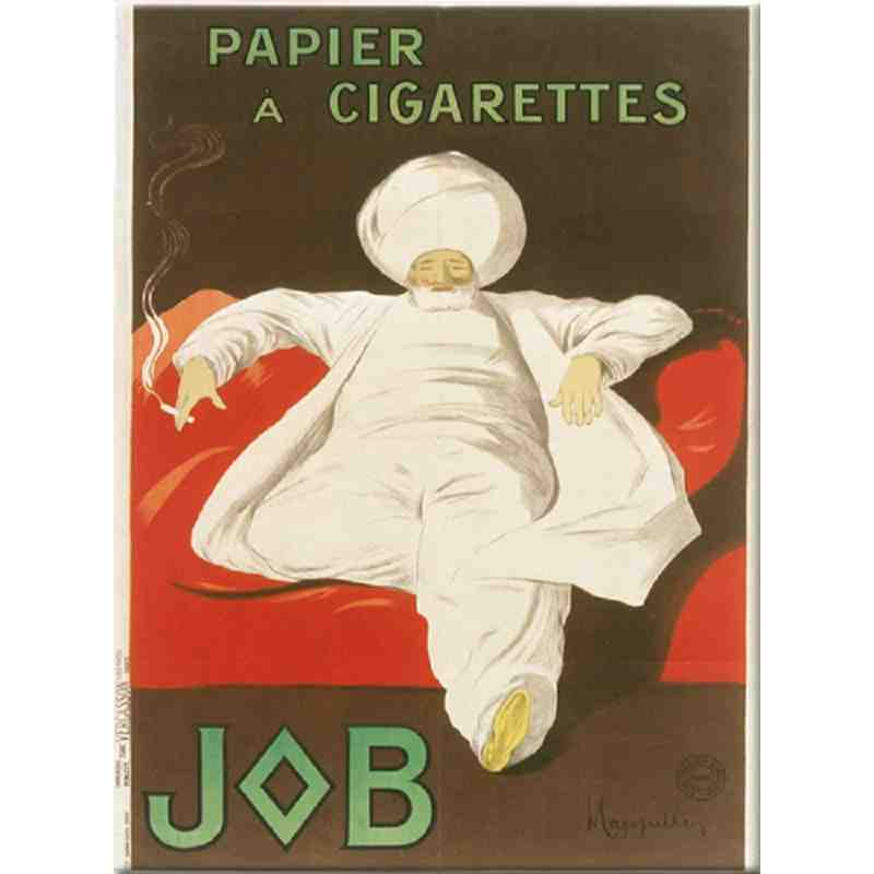 """Plaque métal """"Papier à cigarettes Job"""" - 15 x 20"""