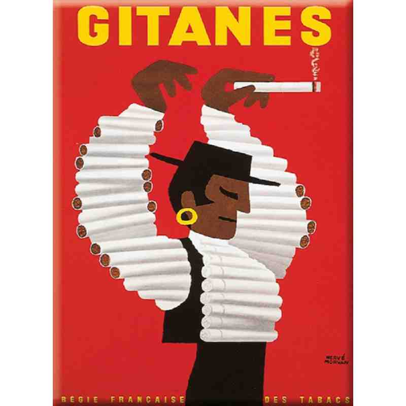 "Plaque Métal ""Gitanes"" 15-x-20"