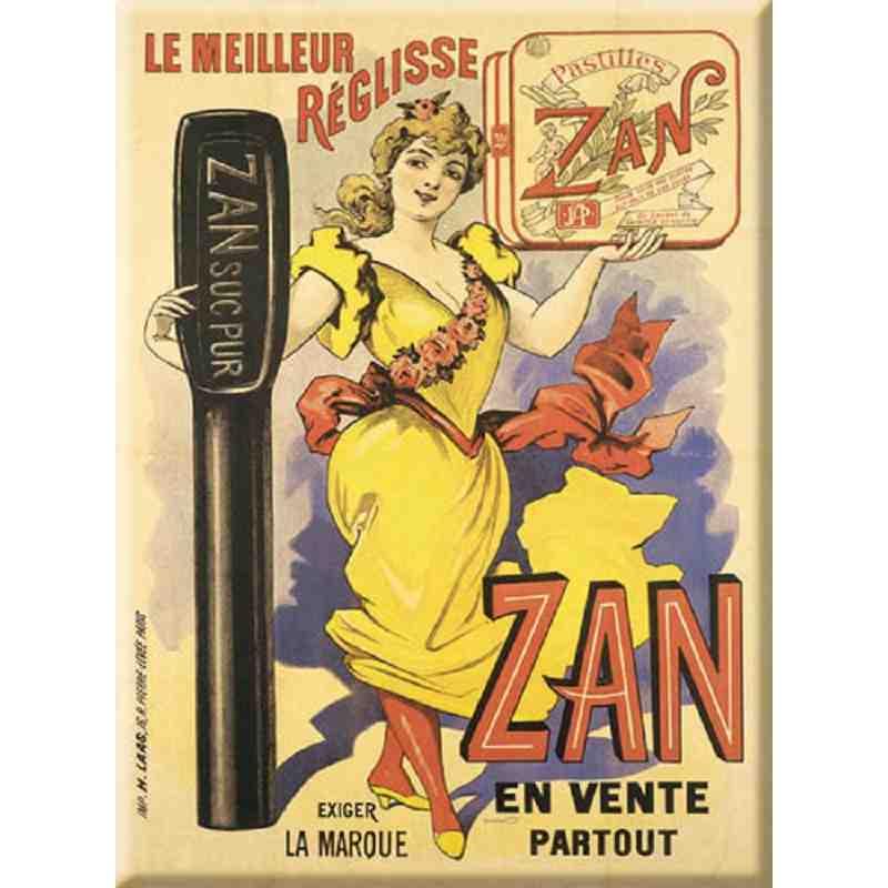 """Plaque Métal """"Réglisse ZAN"""" 15-x-20"""