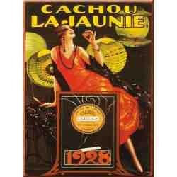 """Plaque Métal """"Cachou Lajaunie"""" 15 x 20"""