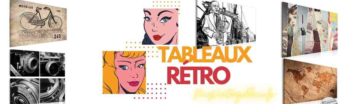 tableaux vintage design retro